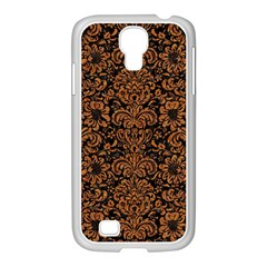 Damask2 Black Marble & Rusted Metal (r) Samsung Galaxy S4 I9500/ I9505 Case (white) by trendistuff