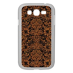 Damask2 Black Marble & Rusted Metal (r) Samsung Galaxy Grand Duos I9082 Case (white) by trendistuff