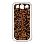 DAMASK2 BLACK MARBLE & RUSTED METAL (R) Samsung Galaxy S3 Back Case (White)