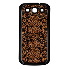Damask2 Black Marble & Rusted Metal (r) Samsung Galaxy S3 Back Case (black) by trendistuff