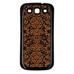 DAMASK2 BLACK MARBLE & RUSTED METAL (R) Samsung Galaxy S3 Back Case (Black)
