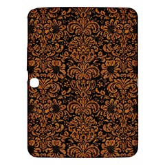 Damask2 Black Marble & Rusted Metal (r) Samsung Galaxy Tab 3 (10 1 ) P5200 Hardshell Case