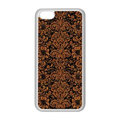 Damask2 Black Marble & Rusted Metal (r) Apple Iphone 5c Seamless Case (white) by trendistuff