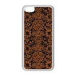 DAMASK2 BLACK MARBLE & RUSTED METAL (R) Apple iPhone 5C Seamless Case (White)