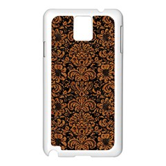 Damask2 Black Marble & Rusted Metal (r) Samsung Galaxy Note 3 N9005 Case (white)