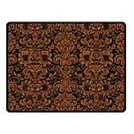 DAMASK2 BLACK MARBLE & RUSTED METAL (R) Double Sided Fleece Blanket (Small)