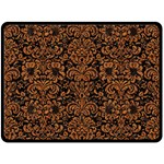 DAMASK2 BLACK MARBLE & RUSTED METAL (R) Double Sided Fleece Blanket (Large)