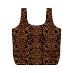 DAMASK2 BLACK MARBLE & RUSTED METAL (R) Full Print Recycle Bags (M)