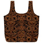 DAMASK2 BLACK MARBLE & RUSTED METAL (R) Full Print Recycle Bags (L)  Back