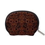 DAMASK2 BLACK MARBLE & RUSTED METAL (R) Accessory Pouches (Small)  Back