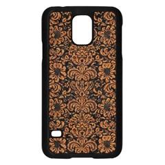 Damask2 Black Marble & Rusted Metal (r) Samsung Galaxy S5 Case (black) by trendistuff