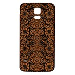 DAMASK2 BLACK MARBLE & RUSTED METAL (R) Samsung Galaxy S5 Back Case (White)