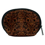DAMASK2 BLACK MARBLE & RUSTED METAL (R) Accessory Pouches (Medium)  Back