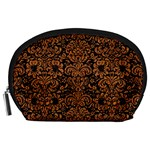 DAMASK2 BLACK MARBLE & RUSTED METAL (R) Accessory Pouches (Large)