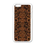 DAMASK2 BLACK MARBLE & RUSTED METAL (R) Apple iPhone 6/6S White Enamel Case