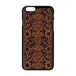 DAMASK2 BLACK MARBLE & RUSTED METAL (R) Apple iPhone 6/6S Black Enamel Case
