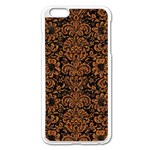 DAMASK2 BLACK MARBLE & RUSTED METAL (R) Apple iPhone 6 Plus/6S Plus Enamel White Case
