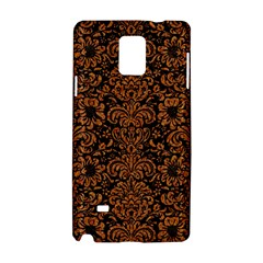 Damask2 Black Marble & Rusted Metal (r) Samsung Galaxy Note 4 Hardshell Case by trendistuff