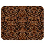 DAMASK2 BLACK MARBLE & RUSTED METAL (R) Double Sided Flano Blanket (Medium)  60 x50 Blanket Back