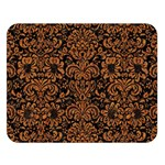 DAMASK2 BLACK MARBLE & RUSTED METAL (R) Double Sided Flano Blanket (Large)