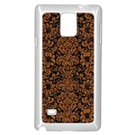 DAMASK2 BLACK MARBLE & RUSTED METAL (R) Samsung Galaxy Note 4 Case (White)