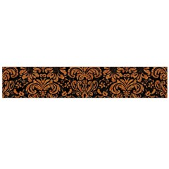 Damask2 Black Marble & Rusted Metal (r) Flano Scarf (large)