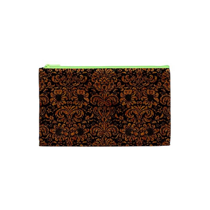 DAMASK2 BLACK MARBLE & RUSTED METAL (R) Cosmetic Bag (XS)