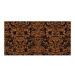 DAMASK2 BLACK MARBLE & RUSTED METAL (R) Satin Wrap