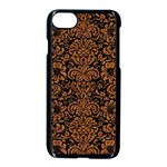 DAMASK2 BLACK MARBLE & RUSTED METAL (R) Apple iPhone 7 Seamless Case (Black)