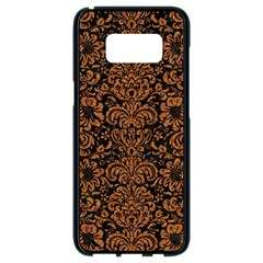 Damask2 Black Marble & Rusted Metal (r) Samsung Galaxy S8 Black Seamless Case by trendistuff