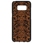 DAMASK2 BLACK MARBLE & RUSTED METAL (R) Samsung Galaxy S8 Black Seamless Case