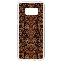 Damask2 Black Marble & Rusted Metal (r) Samsung Galaxy S8 White Seamless Case by trendistuff