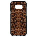 DAMASK2 BLACK MARBLE & RUSTED METAL (R) Samsung Galaxy S8 Plus Black Seamless Case
