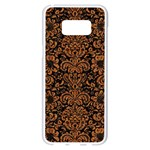 DAMASK2 BLACK MARBLE & RUSTED METAL (R) Samsung Galaxy S8 Plus White Seamless Case