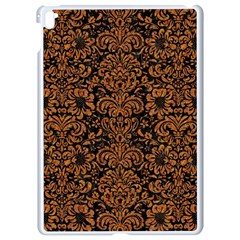 Damask2 Black Marble & Rusted Metal (r) Apple Ipad Pro 9 7   White Seamless Case