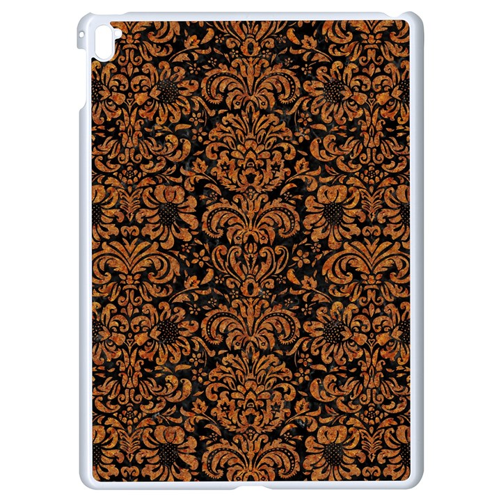 DAMASK2 BLACK MARBLE & RUSTED METAL (R) Apple iPad Pro 9.7   White Seamless Case
