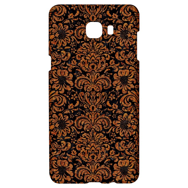 DAMASK2 BLACK MARBLE & RUSTED METAL (R) Samsung C9 Pro Hardshell Case