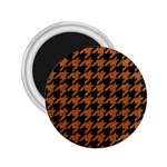 HOUNDSTOOTH1 BLACK MARBLE & RUSTED METAL 2.25  Magnets