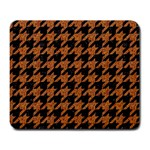 HOUNDSTOOTH1 BLACK MARBLE & RUSTED METAL Large Mousepads