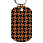 HOUNDSTOOTH1 BLACK MARBLE & RUSTED METAL Dog Tag (One Side) Front