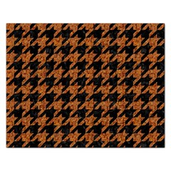Houndstooth1 Black Marble & Rusted Metal Rectangular Jigsaw Puzzl by trendistuff