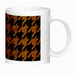 HOUNDSTOOTH1 BLACK MARBLE & RUSTED METAL Night Luminous Mugs Right