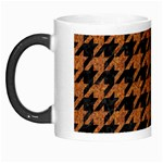 HOUNDSTOOTH1 BLACK MARBLE & RUSTED METAL Morph Mugs Left