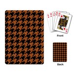 HOUNDSTOOTH1 BLACK MARBLE & RUSTED METAL Playing Card Back