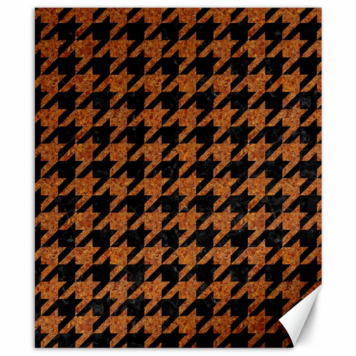 HOUNDSTOOTH1 BLACK MARBLE & RUSTED METAL Canvas 8  x 10