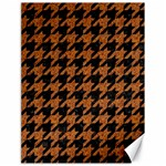 HOUNDSTOOTH1 BLACK MARBLE & RUSTED METAL Canvas 18  x 24   24 x18 Canvas - 1