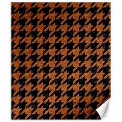 Houndstooth1 Black Marble & Rusted Metal Canvas 20  X 24