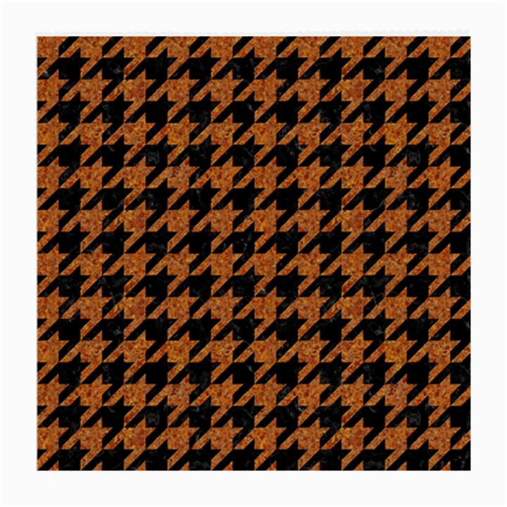HOUNDSTOOTH1 BLACK MARBLE & RUSTED METAL Medium Glasses Cloth (2-Side)
