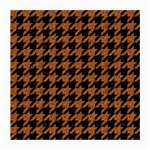 HOUNDSTOOTH1 BLACK MARBLE & RUSTED METAL Medium Glasses Cloth (2-Side) Back