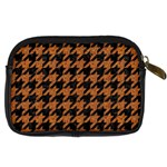 HOUNDSTOOTH1 BLACK MARBLE & RUSTED METAL Digital Camera Cases Back